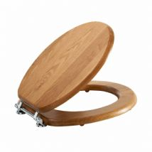 Luxury lancaster Oak Effect Toilet Seat